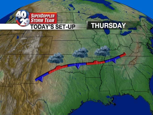 Stationary Front On A Weather Map.2 30pm Update 40 29 Tv Weather Blog