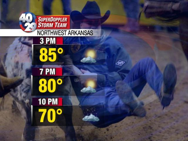 Rodeo Of The Ozarks Forecast 40 29 Tv Weather Blog